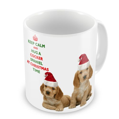 Christmas Keep Calm And Hug A Cocker Spaniel Novelty Gift Mug